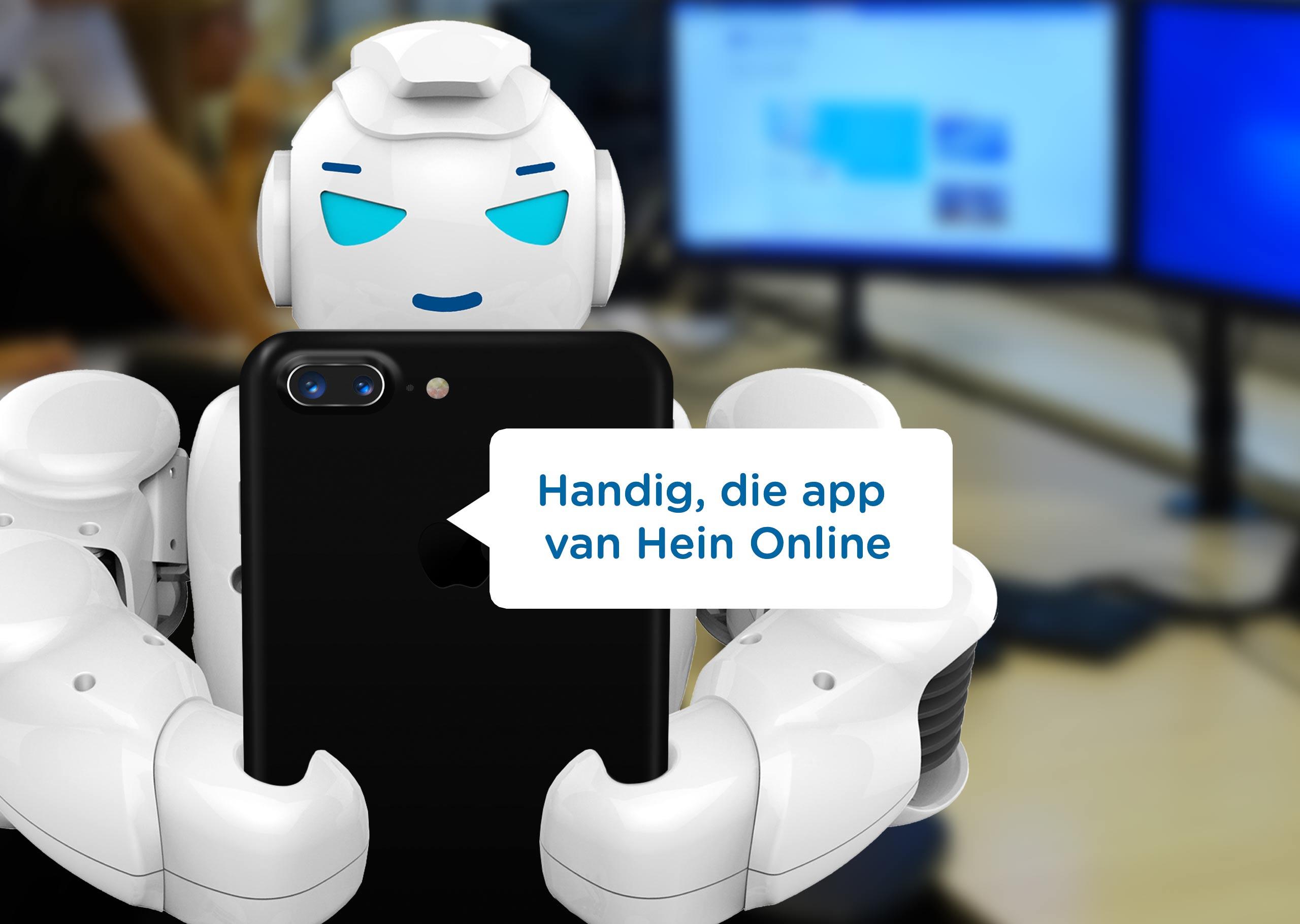 Handig in de app van Hein Online