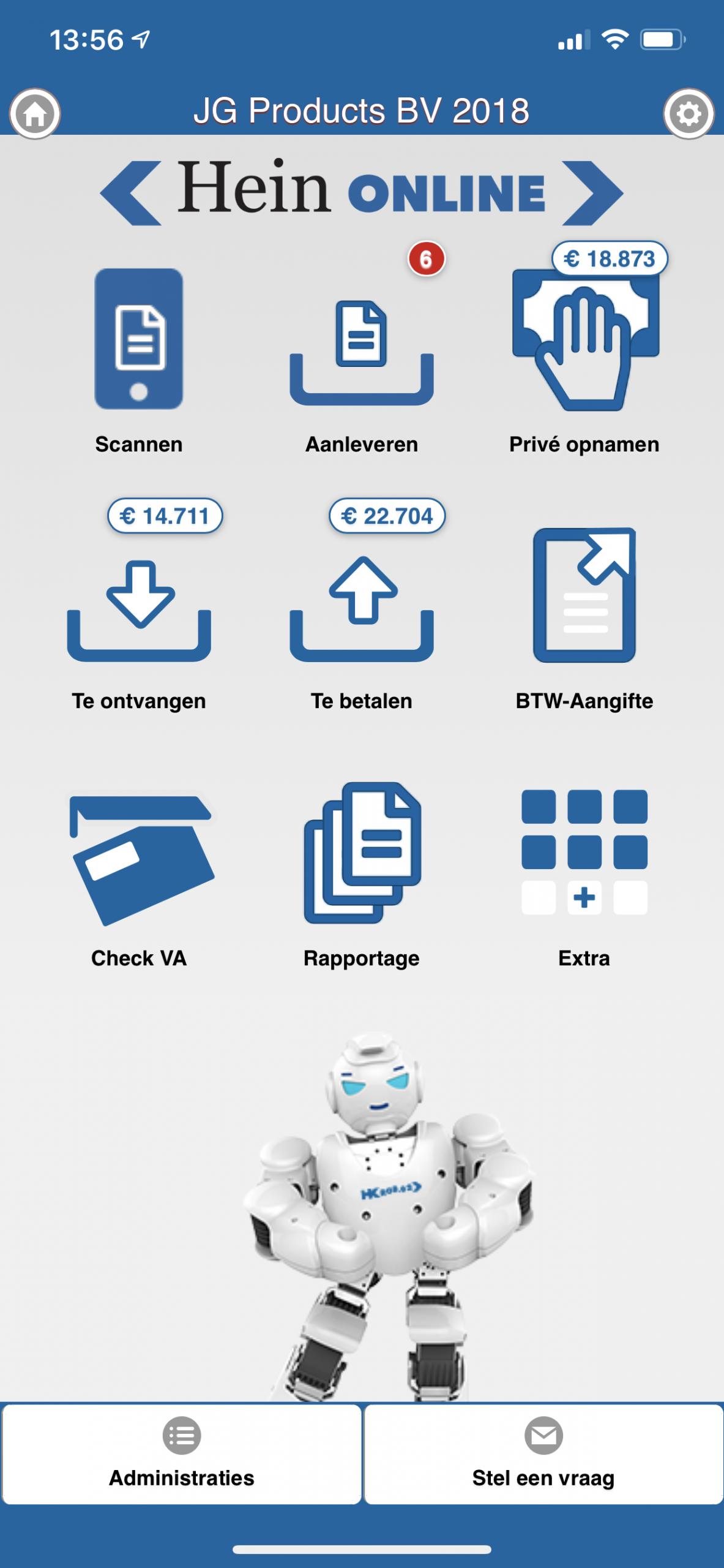 dashboard app hein online